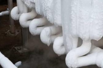 замерзшие трубы