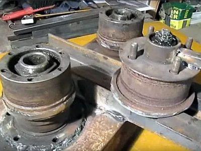 Трубогиб из автомобильных ступиц