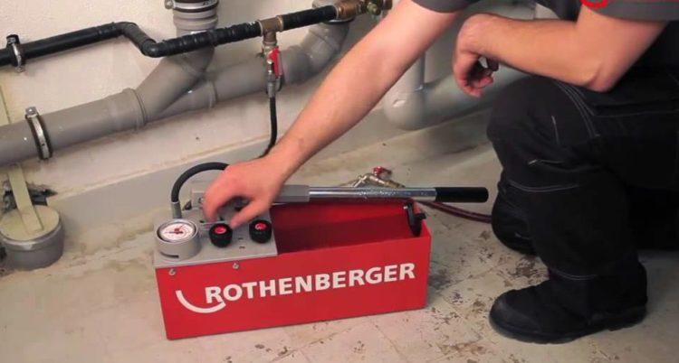 Опрессовка труб отопления воздухом