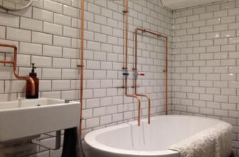 Разводка трубопроводов в ванной