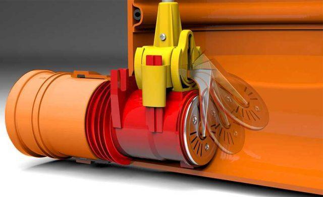 Схема работы клапана для канализационных труб