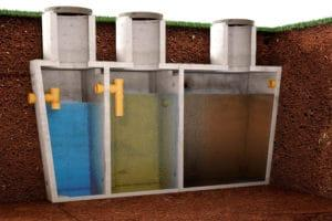 Пример схемы септика из бетонных колец