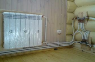 Отопление в загородном доме из метталопласта