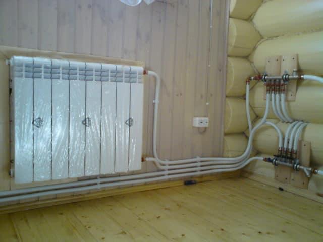 Отопление в загородном доме из металлопласта