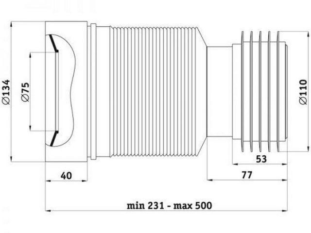 соединитель на трубу 110 мм
